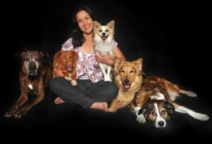 Dana Gallagher with Her Dogs - Perfect Pooch Training System